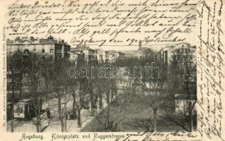 Augsburg, Königsplatz, Auggerstrasse / square, street, tram