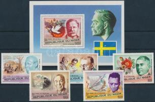 1977 Nobel díjasok sor Mi 586-591 + blokk 17