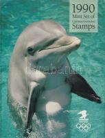 1990 Bélyegkönyv ez év képes bélyegeivel / Mint set of commemorative stamps