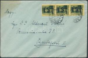 1946 (5.díjszabás) Távolsági levél Kisegítő (III) 3x40P/8f bérmentesítéssel