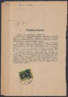 1945 (3.díjszabás) Telefonszámla könyvelési szelvény Kisegítő (II) 5P/8f bérmentesítéssel