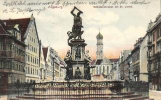 Augsburg, Herkulesbrunnen, St. Ulrich / fountain, church