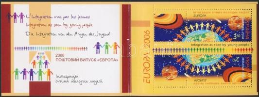 Europa CEPT, integration stampbooklet, Europa CEPT, integráció bélyegfüzet