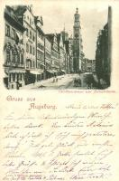 Augsburg, Carolinenstrasse, Perlachthurm / street view, tower
