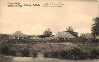 Katanga, The court office and the police, 5 Centimes Ga. (EK)