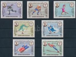 1967 Téli Olimpia 68, Grenoble sor Mi 134-140