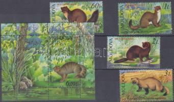 2006 Veszélyeztetett állatok sor Mi 559-562 + blokk Mi 36