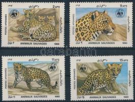 1985 WWF: Leopárd sor Mi 1453-1456 (Mi 1456 betapadás / gum disturbance)