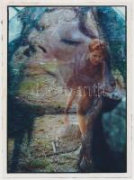 cca 1980 Emlékképek egymásra vetítve, fotómontázs, 24x17,5 cm