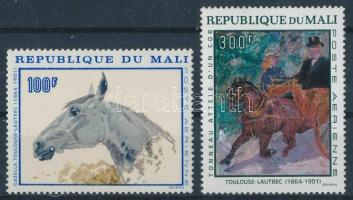 1967 Toulouse-Lautrec festmények sor Mi 158-159