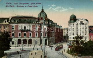 Lviv, Lwów, Lemberg; Sparkasse und Preger Bank