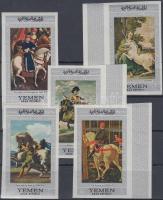 1968 Lovas festmények (II.) vágott sor, közte ívszéli bélyegek Mi 756-760
