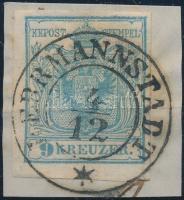 1850 9kr HP I. teljes / óriási szélekkel, kis lemezhiba / small plate variety HERRMANNSTADT