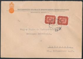 1946 (18.díjszabás) Helyi céges levél 2. súlyfokozat, Milpengős 2 x 200mP bérmentesítéssel / Business local cover 2nd weight class