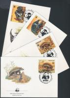 WWF: Endemikus fajok sor 4 FDC-en, WWF: Endemic species set on 4 FDC