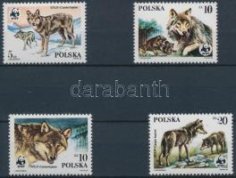 1985 WWF: Farkas sor Mi 2975-2978 + 4 FDC-n