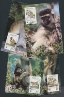 1986 WWF: Majmok sor Mi 184-187 4 CM-n