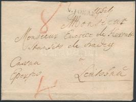 1790 Portós levél / unpaid cover V.TOKAI - Leutschau