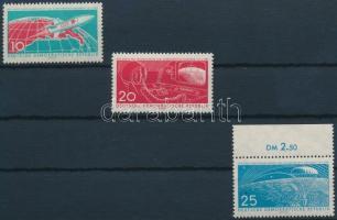 1961 Űrrepülés sor Mi 822-824