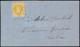 1869 2kr nyomtatványon / on printed matter JVANIC - kék/blue MILIT.KLOST.IVANIC - AGRAM - WIEN