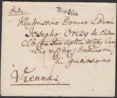 1782 Portós levél / unpaid cover Von Ofen - Vienna
