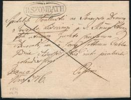 1834 Franco tartalommal / with content R:SZOMBATH - PESTH
