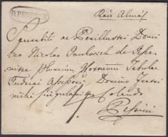 1836-1842 Portós levél / unpaid cover D.PENTELE - Pestini