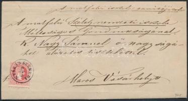 1871 5kr levélen / on cover NYÁRÁD SZEREDA - MAROS-VÁSÁRHELY