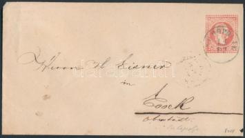~1867 Díjjegyes boríték / PS-cover kék / blue SUHOPOLJE - ESSEGG OBERSTADT