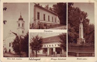 Felsősegesd, Községháza, Római katolikus templom, Hangya szövetkezet, Hősök szobra