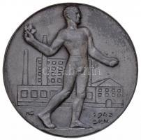 Hajós Géza 1943. Gyári Szabadidő Szervezetek Központja - GYOSZ fém emlékérem (49mm) T:2- karc