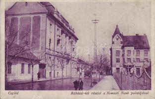 Cegléd, Rákóczi út, Nemzeti Bank palotája