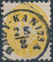 """2kr yellow """"NAGY-KANIZSA"""", 2kr sárga """"NAGY-KANIZSA"""""""