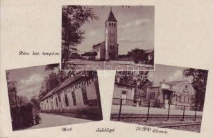 Sződliget, Római katolikus templom, MÁV állomás, Apollo Filmszínház, mozi