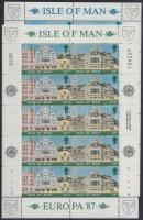 1987 Europa CEPT, Építészet kisív sor Mi 335-338