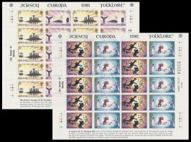 1981 Europa CEPT, Folklór kisív sor Mi 253-256