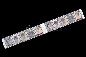 1998 Lady Diana halála (1997) sor ívközéprészes 10-es tömbben Mi 1729-1733