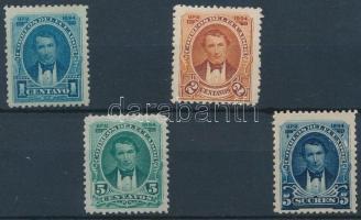 1894 Vicente Rocafuerte sor 4 értéke Mi 30-32 A, 37