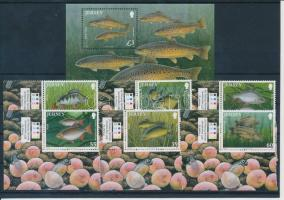 Fishes corner set + block, Halak ívsarki sor + blokk