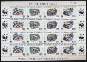 1999 WWF: Pitonfélék sor kisív Mi 1159-1162