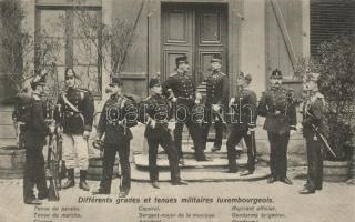 Luxembourg, Differents grades et tenues militaires / types of guards (EB)