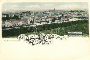 Esch an der Alzette, Gruss aus... Total Ansicht / view