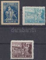 1919 Kiadatlan bélyegek Mi II a, II c, II e