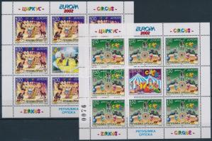 2002 Europa CEPT: Cirkusz kisív sor Mi 241-242 A