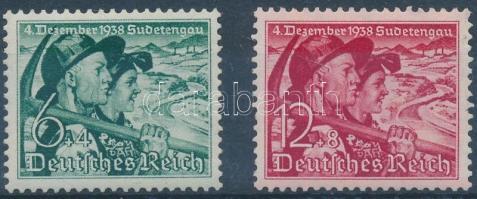 1938 Szudéta-vidék sor Mi 684-685