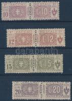 1921/1922 Csomagbélyegek sor Mi 16-19 (18-19 falcos)