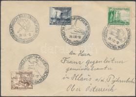 1938 Levél Ausztráliába téli sporthét alkalmi bélyegzéssel / Cover to Austria with wintersports week special cancellation