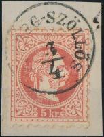 1867 5kr (HERCZE)G-SZÖLLÖS (Gudlin 300 pont)