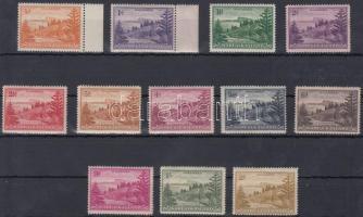 1947 Forgalmi sor Mi 1-6, 8-13 (7, 14 hiányzik / missing) (apró hibák / minor faults)