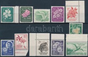1960 Forgalmi: Madarak és virágok sor Mi 26-36